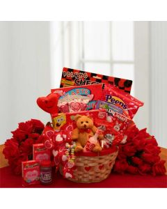My Little Sweetheart Valentine's Gift Basket - Valentine's Day Gift Baskets by Gift Baskets Plus