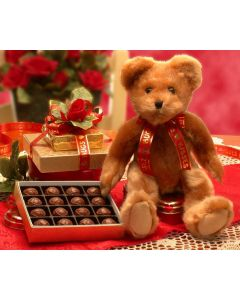 Sweet Teddy Bear - Valentine's Day Gift Baskets by Gift Baskets Plus