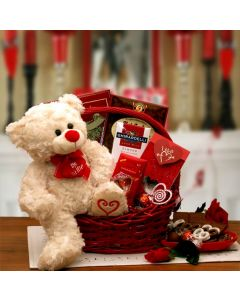 Be My Valentine - Valentine's Day Gift Basket by Gift Baskets Plus